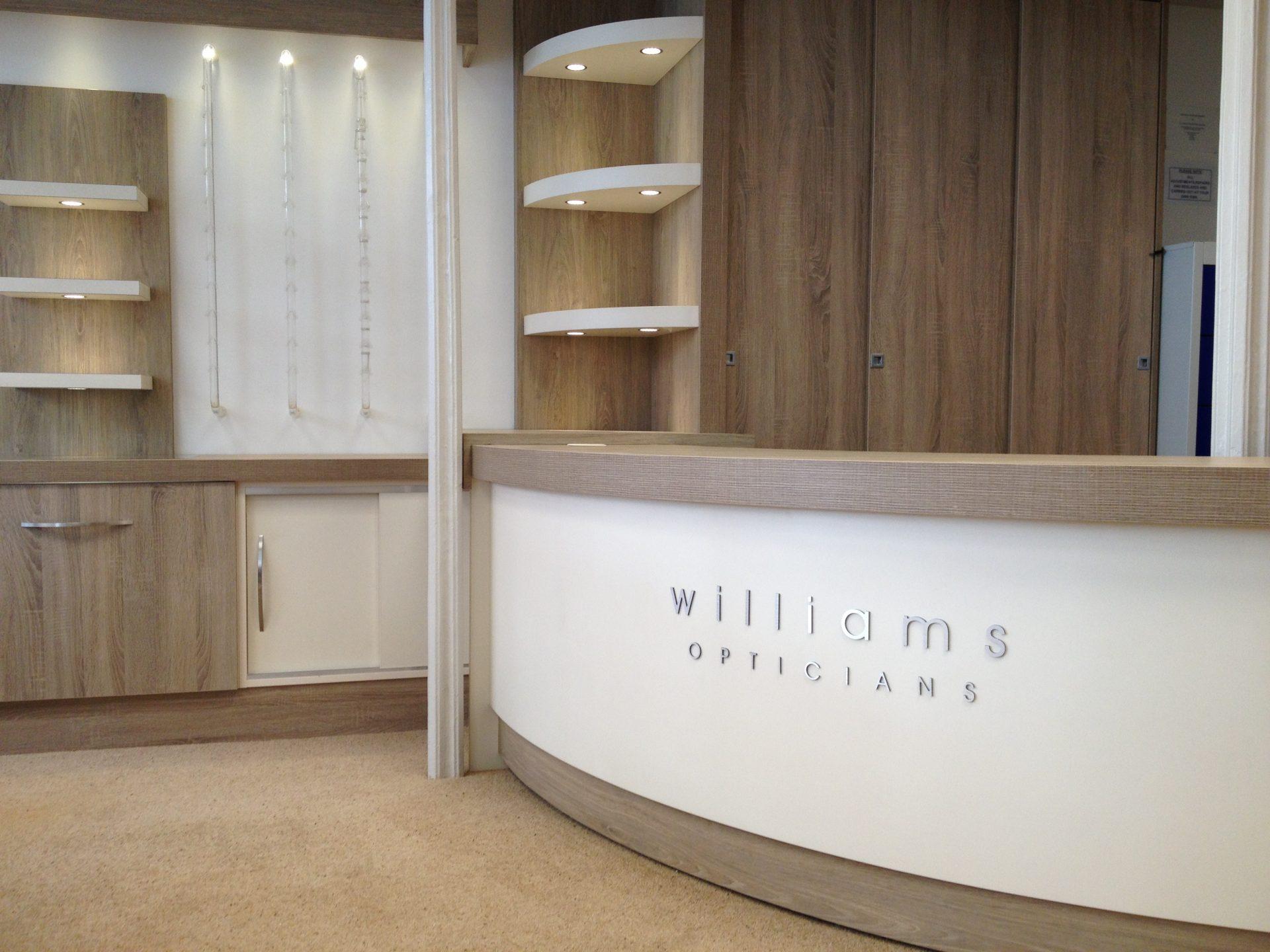 Williams Opticians Desk